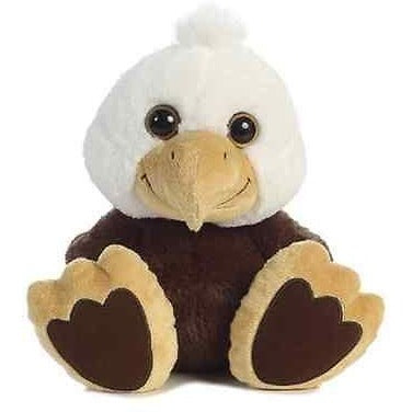 10 Inch Taddle Toes Stripes Bald Eagle Plush Stuffed Animal By