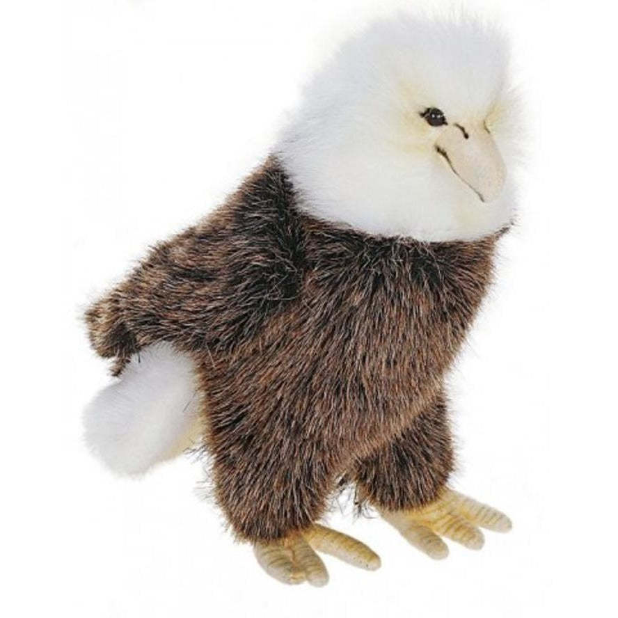 9 Inch Handcrafted Perched Baby Eagle Plush Stuffed Animal By Hansa