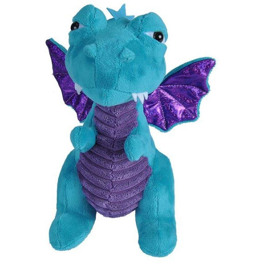 12 Inch Teal Blue Dragon Plush Stuffed Animal By Wild Republic