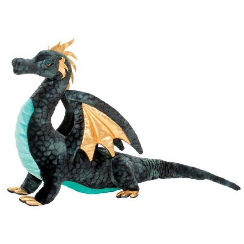 28 Inch Aragon Blue Dragon Plush Stuffed Animal By Douglas
