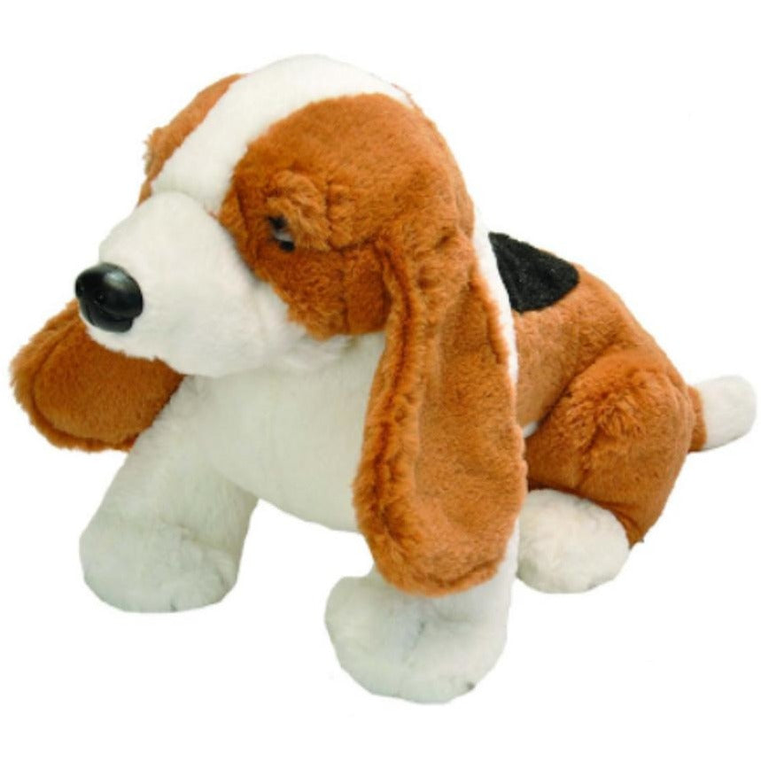 12 Inch Ck Sitting Basset Hound Dog Plush Stuffed Animal By Wild