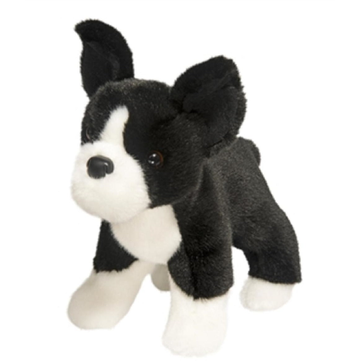 10 Inch Myrtle Boston Terrier Dog Plush Stuffed Animal By Douglas