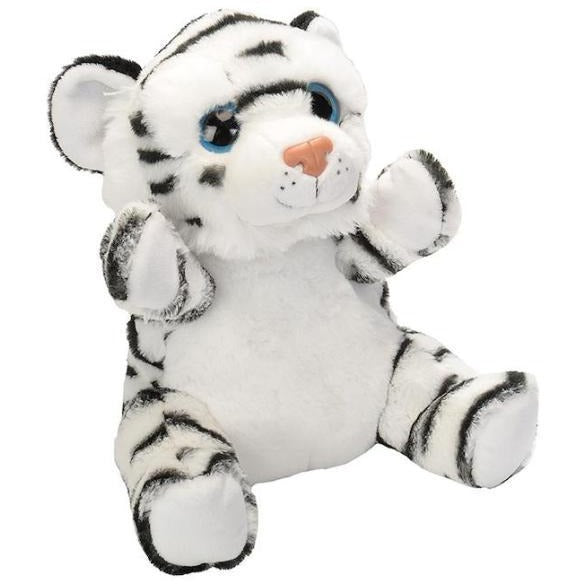 10 Inch White Tiger Plush Stuffed Animal Hand Puppet By Wild