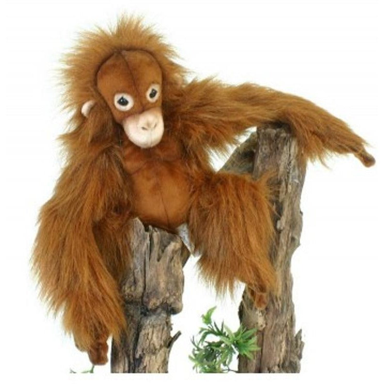 11 Inch Handcrafted Baby Orangutan Plush Stuffed Animal By Hansa