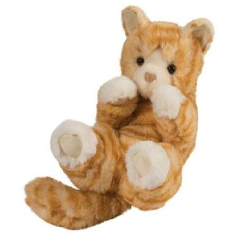 9 Inch Handful Lou Lou Orange Tabby Cat Plush Stuffed Animal By