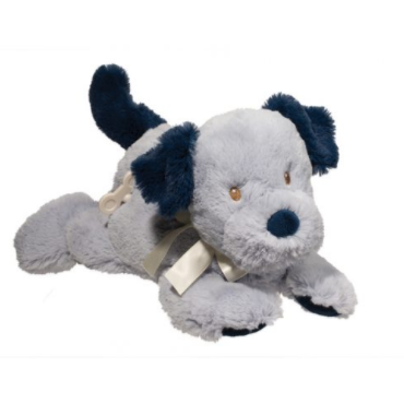 13 Inch Musical Blue Puppy Dog Plush Stuffed Animal Baby Toy By