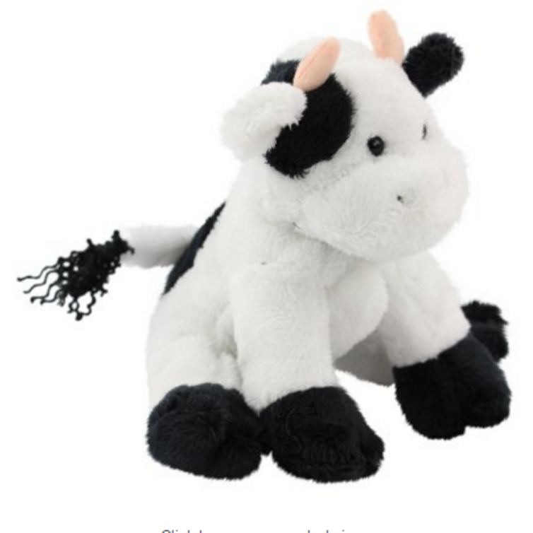 7 Inch Conservation Critter Sitting Cow Plush Stuffed Animal Y