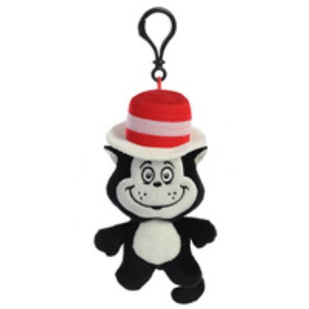 4 Inch Dr Seuss Dood Plushie Cat In The Hat Plush Clip On Keychain