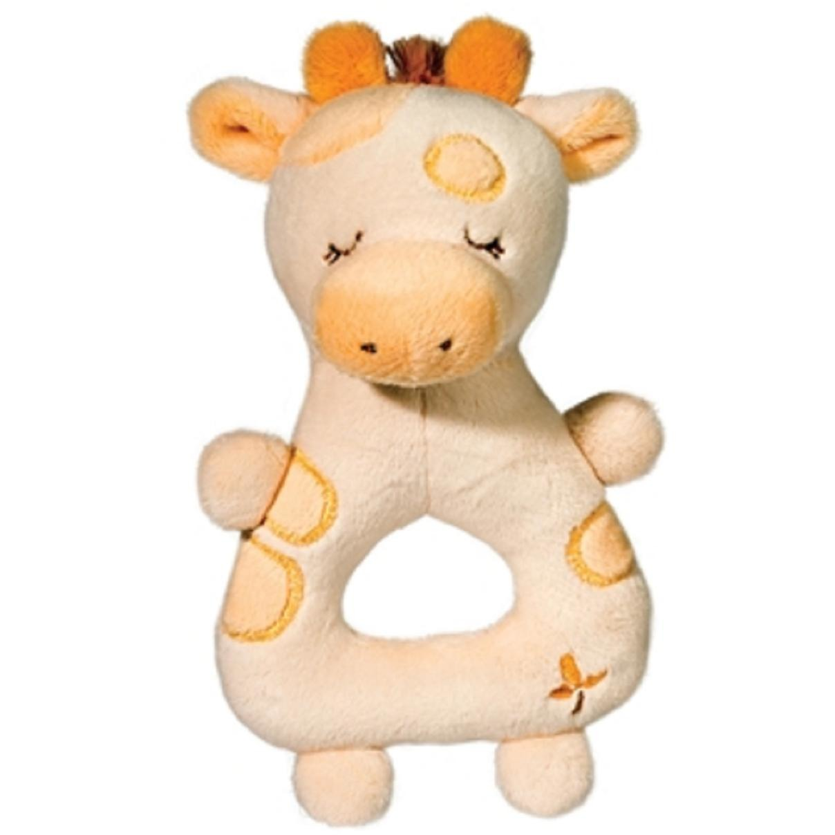 7 Inch Giraffe Plush Stuffed Animal Rattle Baby Toy By Douglas