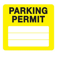 Parking Permit Pass Stock Static Cling Windshield Sticker Non-Adhesive for Employees, Tenants, Students, Businesses, Office, Apartments, by Milcoast, 10 Pack (Yellow)