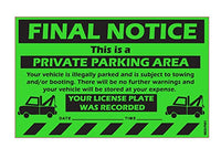 "MESS Parking Violation Stickers Final Notice Private Parking Car Warning Sticker / Hard To Remove and Very Sticky Permanent Adhesive (50-Pack) 8"" x 5"""