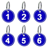 Aspire ABS Key Tags with Ring, Numbered Id Tags Key Chain 50 Pieces-Blue-1to50