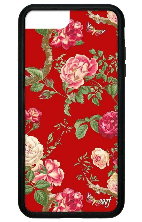 Red Floral iPhone 6/7/8 Case