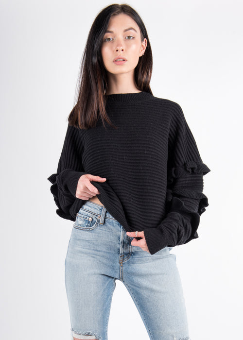 Beau Ruffle Sweater
