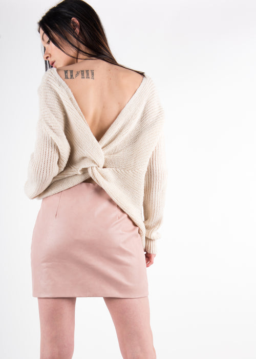 Tie-back Knit Sweater