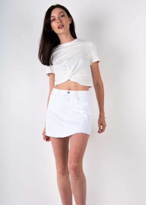 Mini Cut-off Skirt