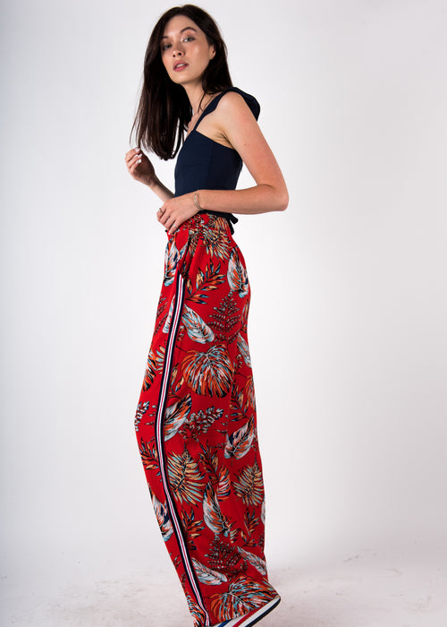 Floral Stripe Pants
