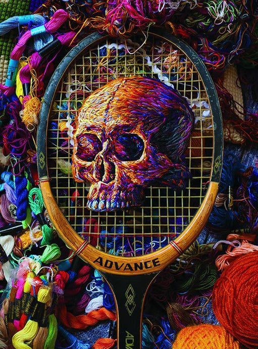 Skull embroidery 1000 piece jigsaw puzzle