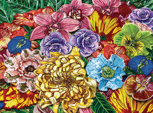 Patch of flower patches 1000 piece jigsaw puzzle