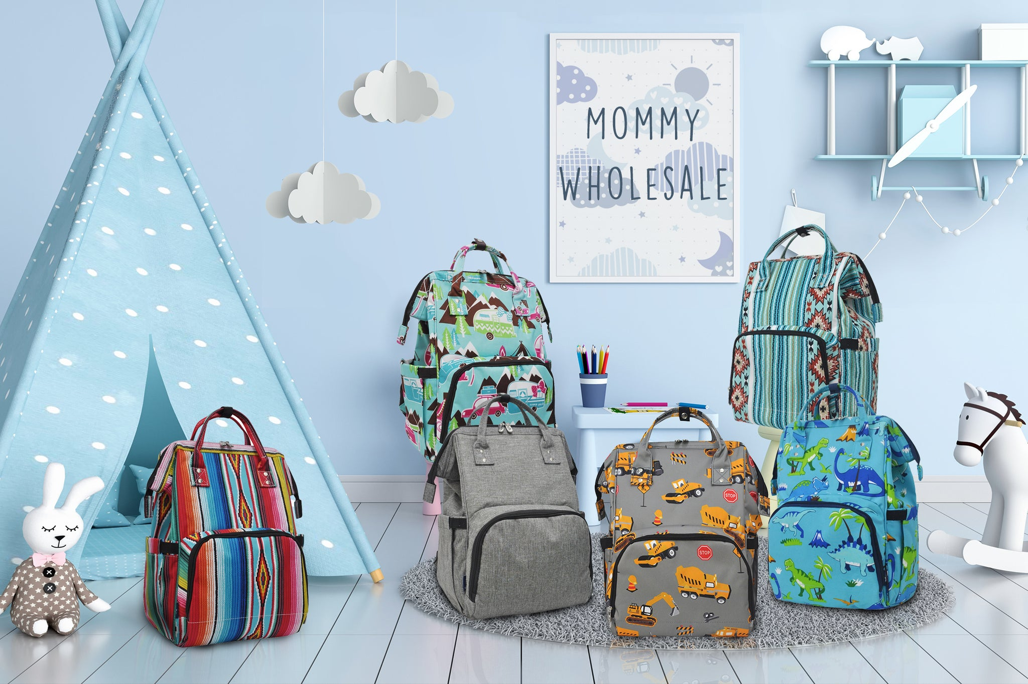 NGIL wholesale diaper bags, children bags, baby bags, diaper bags, toddler bags, insulated diaper bags, bottle bags, bags for strollers, canvas diaper bags, carry on travel diaper bag, affordable diaper bag, diaper bags for boutique, bulk diaper bags