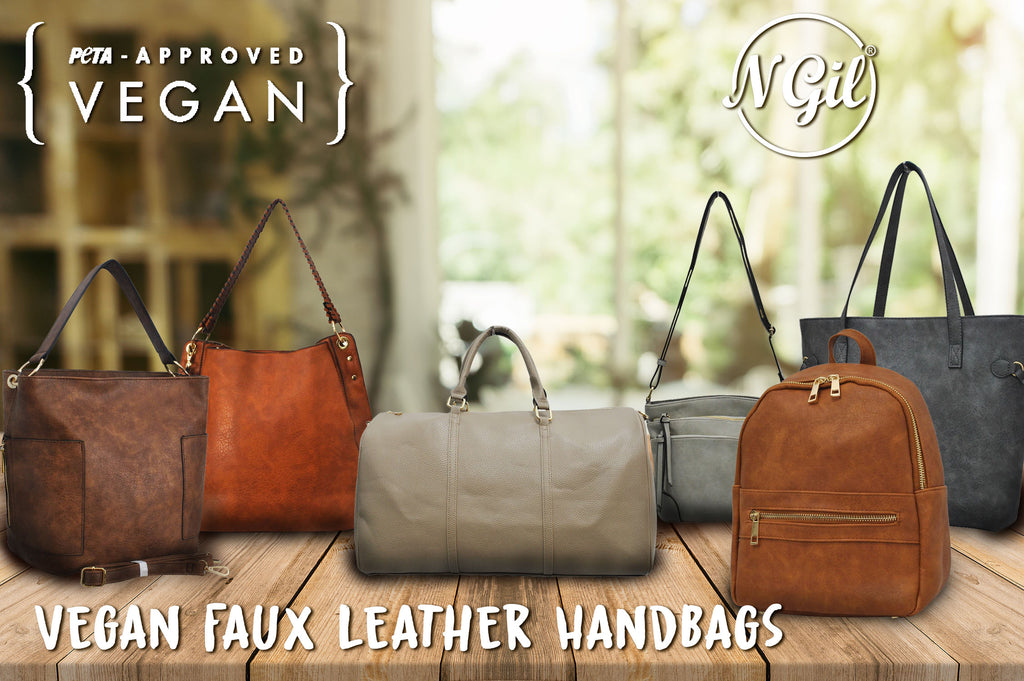 faux leather handbags, vegan faux leather handbags, vegan leather mini backpacks, faux leather tote bags, cruelty free leather handbags, peta approved leather purses, peta approved handbags, peta approved faux leather,