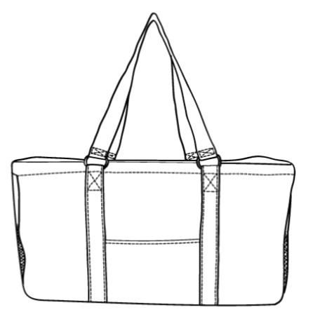 We offer variety selection personalized bags for women, personalized bags for kids, personalized bags for boys.  This is the perfect wholesale utility basket for the car, the beach, picnics, tailgating and at home.