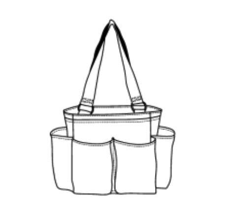 A great small tote bag to store or carry a variety of items! it's perfect as a small diaper bag or camera bag, also for craft supplies, cosmetic and beauty items, tailgating, picnics, etc