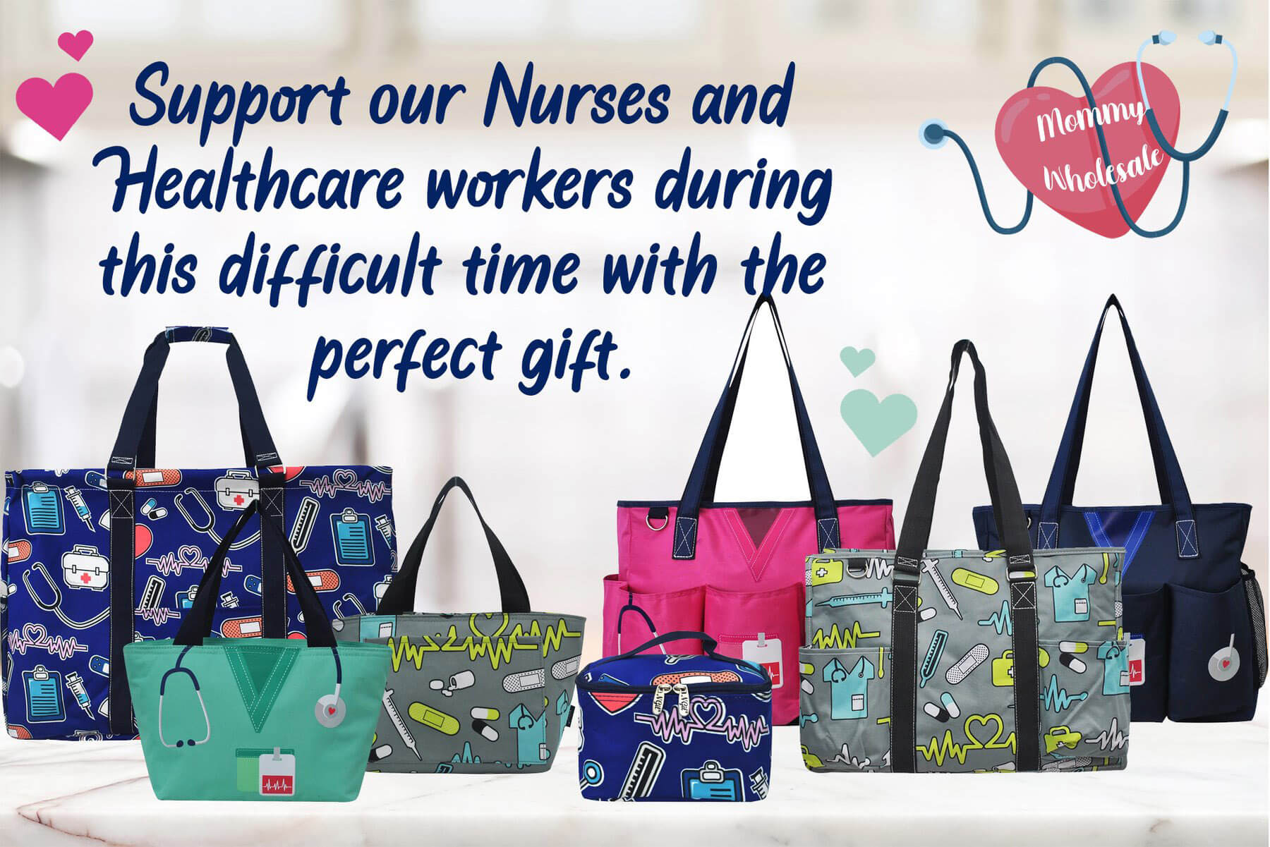 Perfect Gifts for Nurses, Nurse Tote Bags, Wholesale Nurse Totes, Perfect gifts for healthcare workers, Gifts for essential workers, Nurse Thank You Gifts, Hospital Gift Shop, Nurse Lunch Bags, Cheap Nurse Merch, Wholesale Nurse Uniform, Nurse Supplies