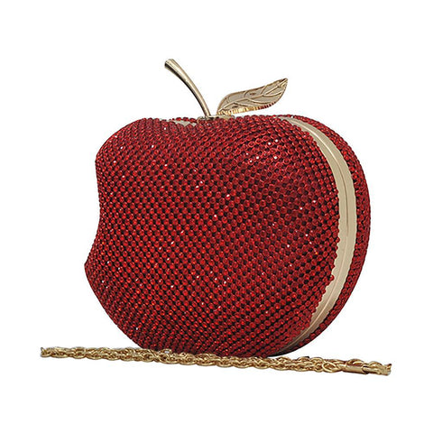Rhinestone Apple Clutch Bag