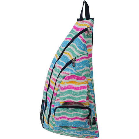 Wholesale sling backpack for biking long trips, perfect sling backpack for hikers, wholesale women's cute hiking backpack, cheap bulk women's easy to carry sling backpack, water resistant canvas backpack