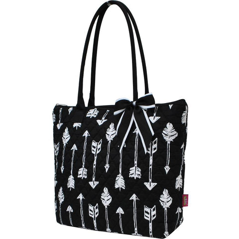 Arrow Black NGIL Quilted Tote Bag