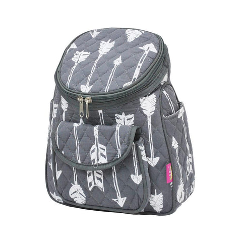 Arrow Gray Print NGIL Quilted Mini Backpack