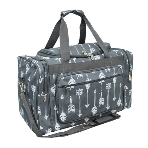 "Arrow Gray NGIL Canvas 20"" Duffle Bag"
