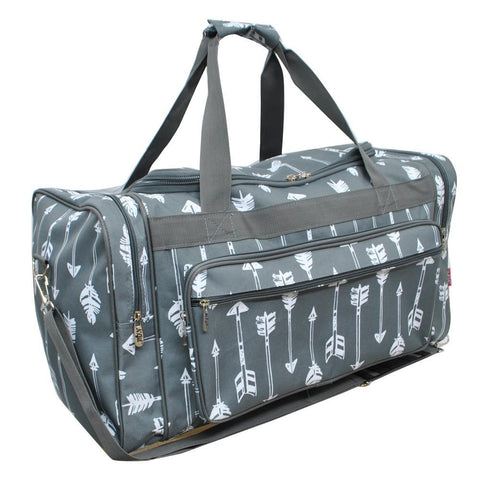 NGIL Gray Arrow Duffel Bag with Wholesale Price, Perfect for Overnight bag and Tote Bag