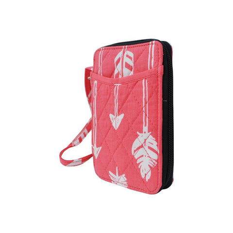Arrow Coral Print NGIL Quilted Wristlet Wallet