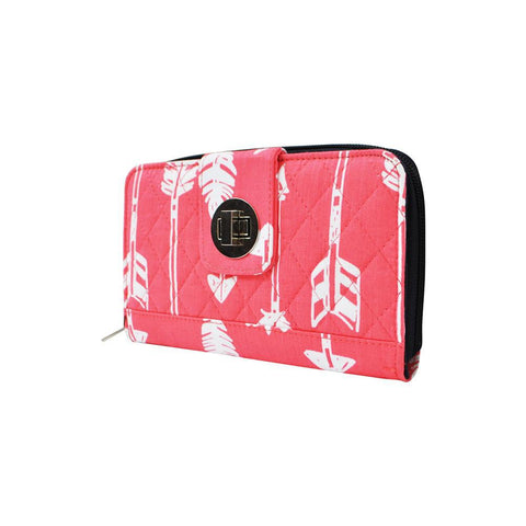 Arrow Coral NGIL Quilted Twist Lock Wallet