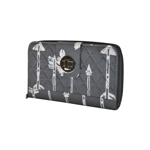 Arrow Gray NGIL Quilted Twist Lock Wallet