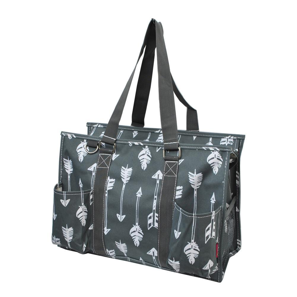 gray arrow tote, NGIL Brand, Personalized Travel Bag, monogram gift ideas, personalized accessories for mom, nurse tote organizer wholesale, gifts for mom,