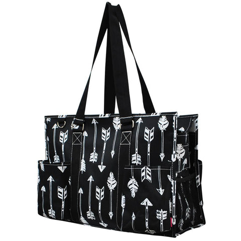 Arrow Black NGIL Zippered Caddy Large Organizer Tote Bag