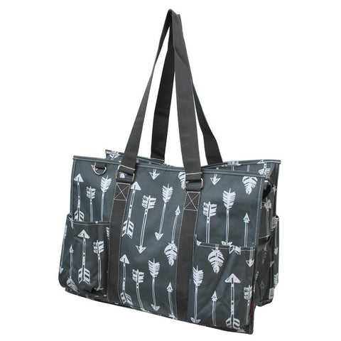 Arrow Gray NGIL Zippered Caddy Large Organizer Tote Bag