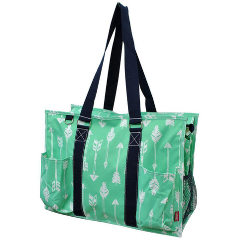 Arrow Mint NGIL Zippered Caddy Large Organizer Tote Bag