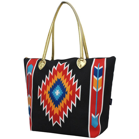 Western Tribe Black NGIL Gold Collection Tote Bag