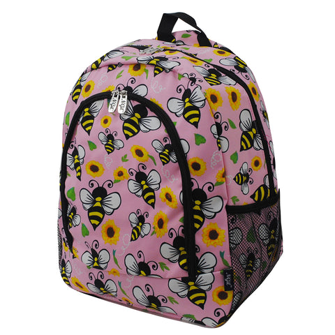 Bee Happy NGIL Canvas School Backpack