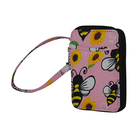 Bee Happy NGIL Canvas Wristlet Wallet