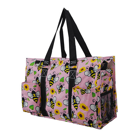 Bee Happy NGIL Zippered Caddy Organizer Tote Bag