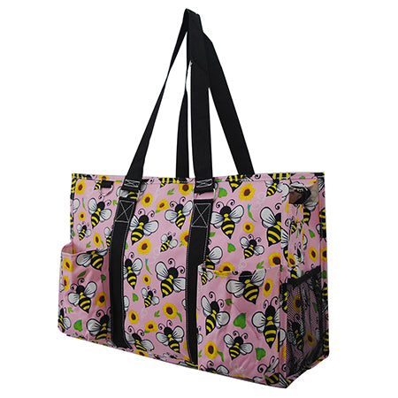 Bee Happy NGIL Zippered Caddy Large Organizer Tote Bag