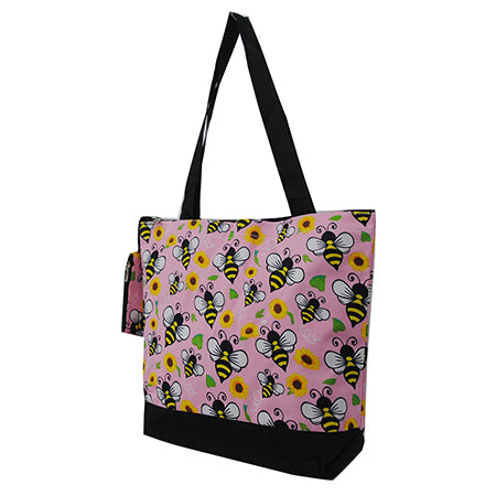 women's pink school tote bags, women's simple tote bags canvas, cute and casual women's tote bags for work, women's tote bags for travel and field trip, women's tote bags with flowers and bees, women's tote bag with outside pockets, women's tote bag with zipper, women's athletic tote bags, women's tote and shopper bags