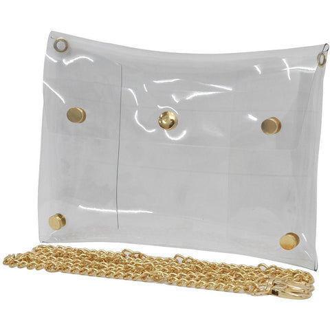 NGIL Clear Stadium Clutch Bag