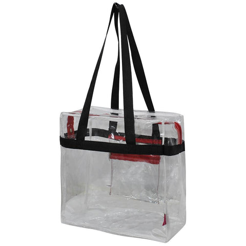 Black and Red NGIL Clear Stadium Tote Bag