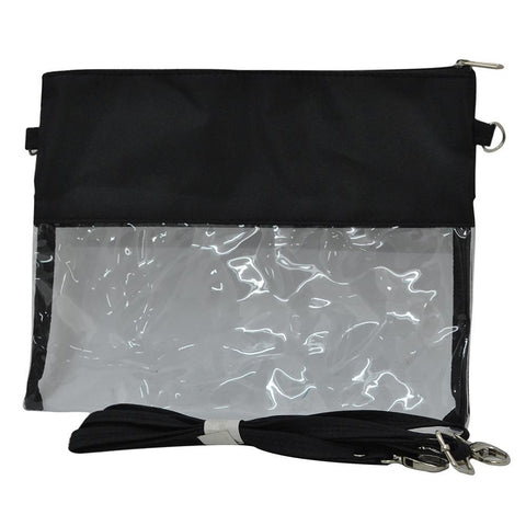 Black NGIL Clear Stadium Crossbody Purse/Clutch Bag
